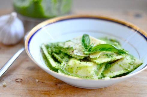 Green pesto pasta recipe