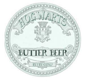 Harry Potter butter beer labels