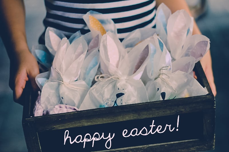 Make some cute bunny bags for Easter (great as an alternative to chocolate eggs)