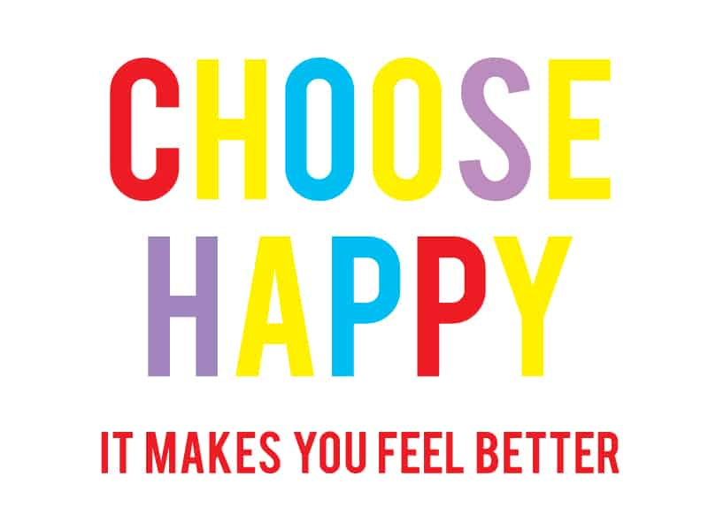 Can you actually choose happy? (Some thoughts and a printable for you)