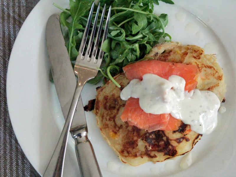 Vegetable fritters for breakfast (like a warm hug for your insides)