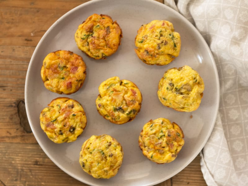 Mini impossible pies - add veggies, cheese and more