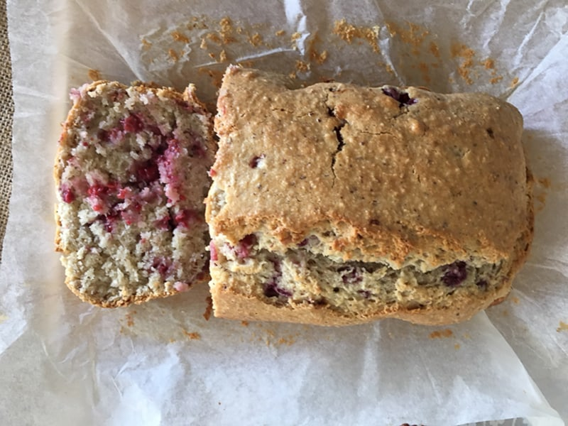Raspberry and coconut loaf - easy bake and dairy free