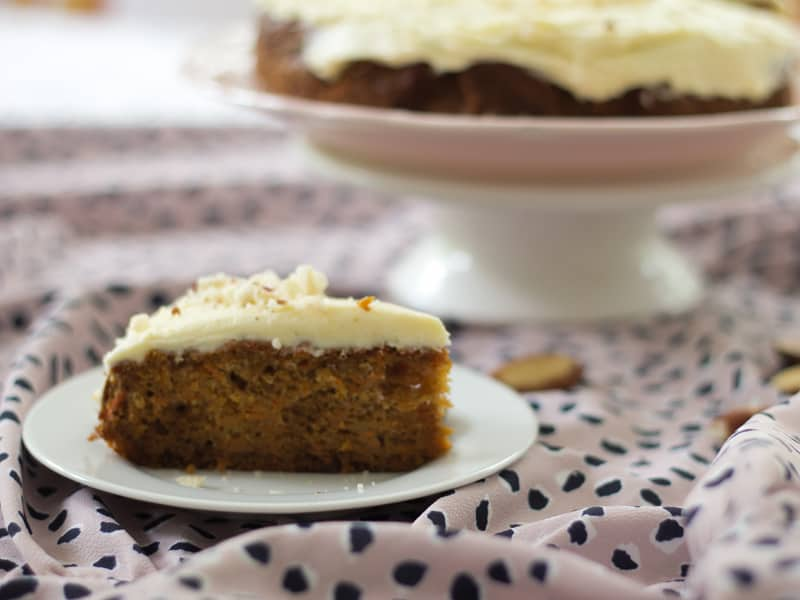 Wholemeal ginger carrot cake – perfect for afternoon tea or a celebration