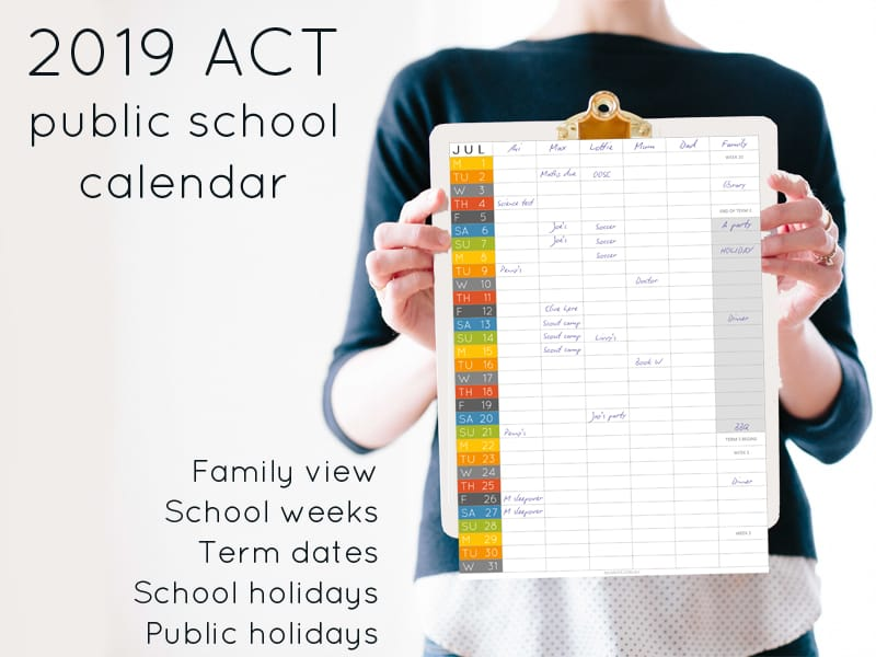 2019 ACT school calendar – term dates and school holidays