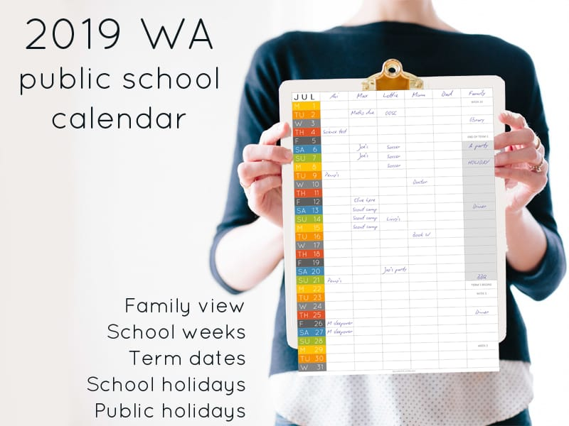2019 WA school calendar – term dates and school holidays