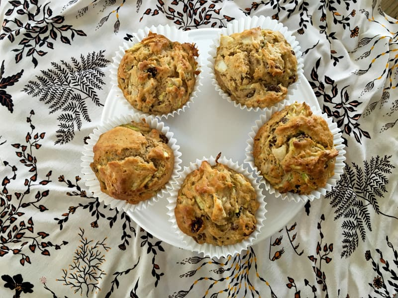 Pear and zucchini muffins - full of goodness