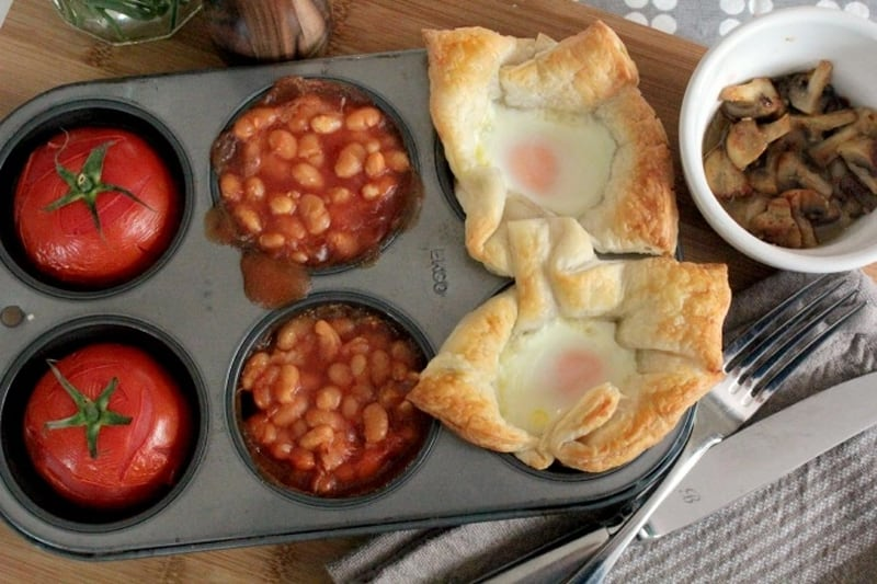 Ridiculously easy baked Sunday breakfast