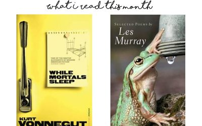 What I read this month: April 2019