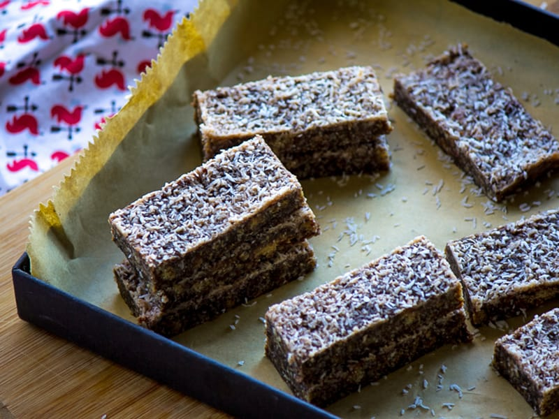 Lucy's mum's no-fuss, no-bake chocolate slice