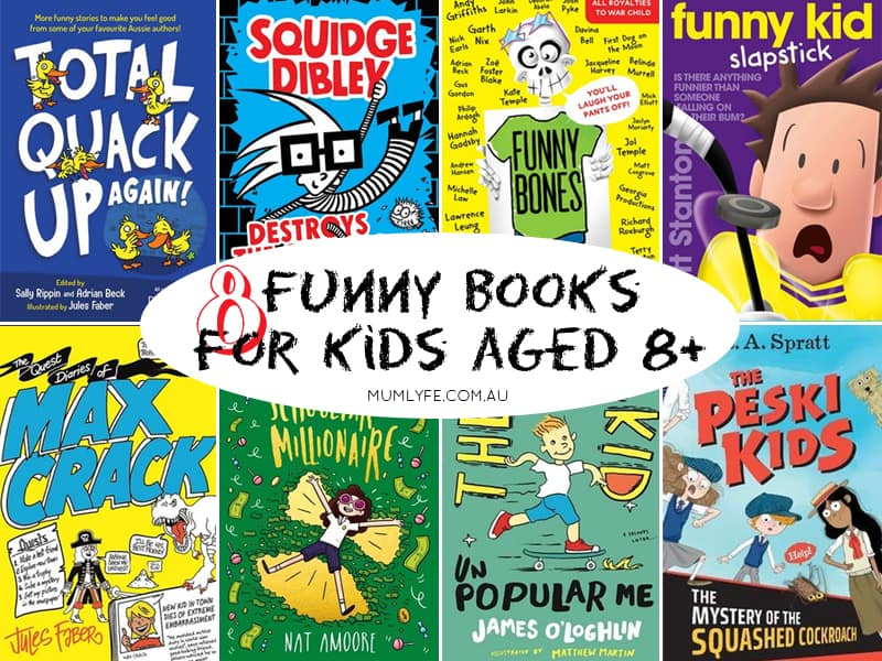8 new(ish) funny books for kids age 8+
