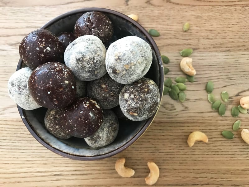 Healthy choc bliss balls make a great pick-me-up