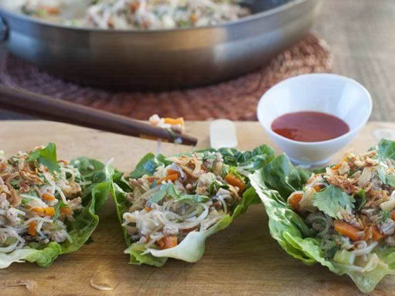 Healthy san choy bow is great for a family dinner