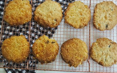 Retro cornflake cookies with a twist