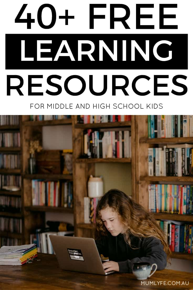 40+ FREE online activities for middle and high school students