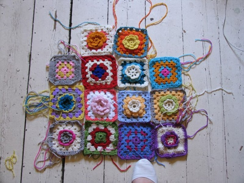 Projects for older kids - granny squares