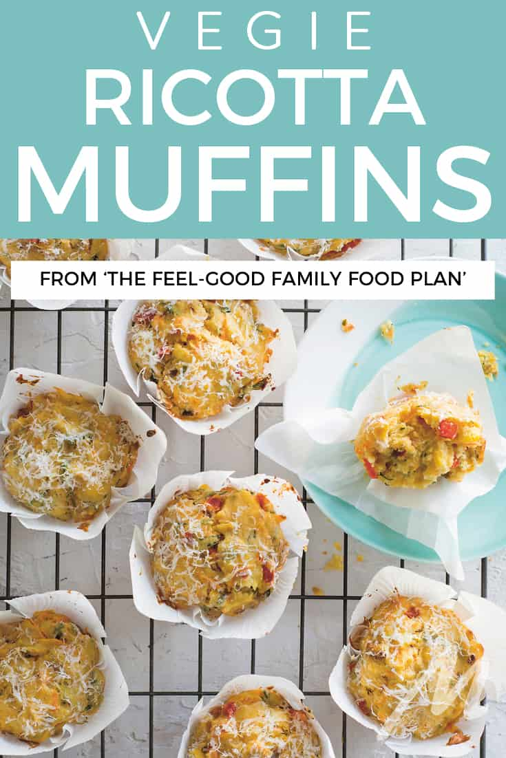Vegie ricotta muffins recipe - from The Feel-Good Family Food Plan book