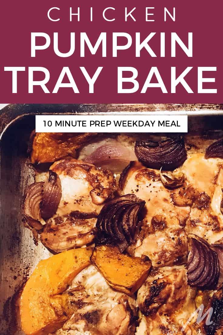 Chicken and pumpkin tray bake recipe