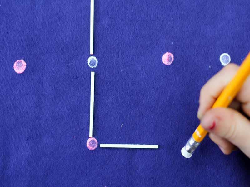 DIY squares game board to make