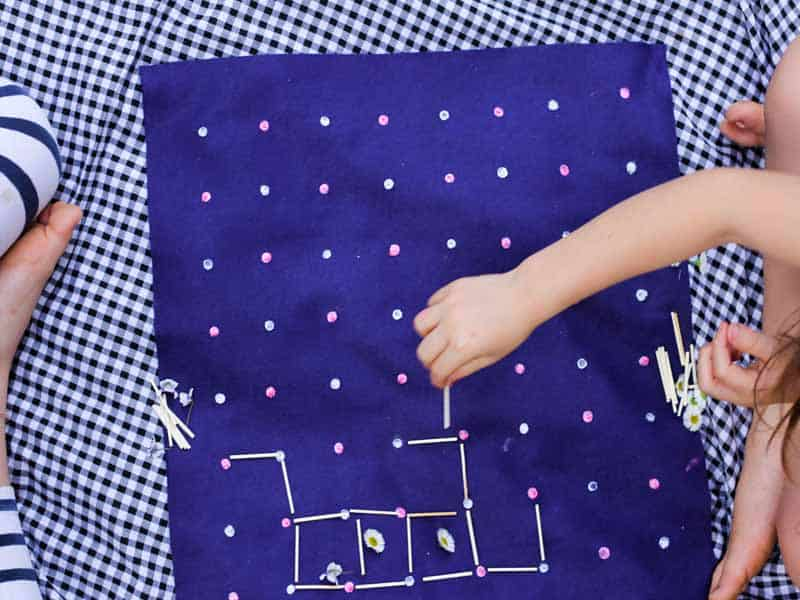 How to play squares and make your own DIY squares game board