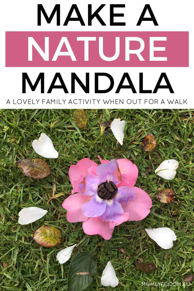 Make a nature mandala