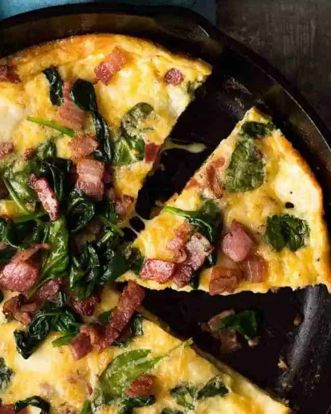 Frittatas make great quick dinners - this one is from Recipe Tin Eats