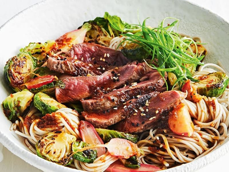 Quick dinners - beef soba noodle bowl