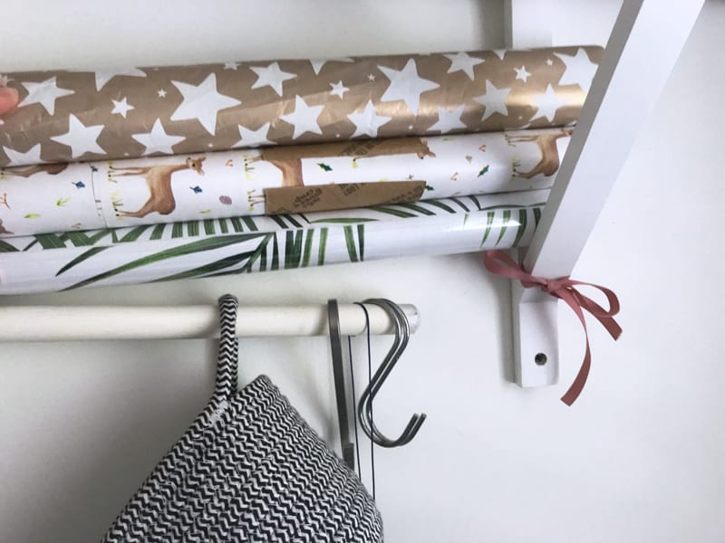Useful life hack - how to store giftwrap