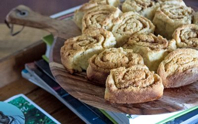 Wholemeal apple scrolls that are quick to make