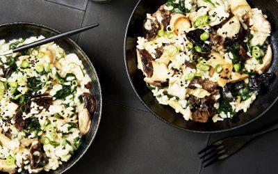 Marley Spoon's mixed mushroom risotto