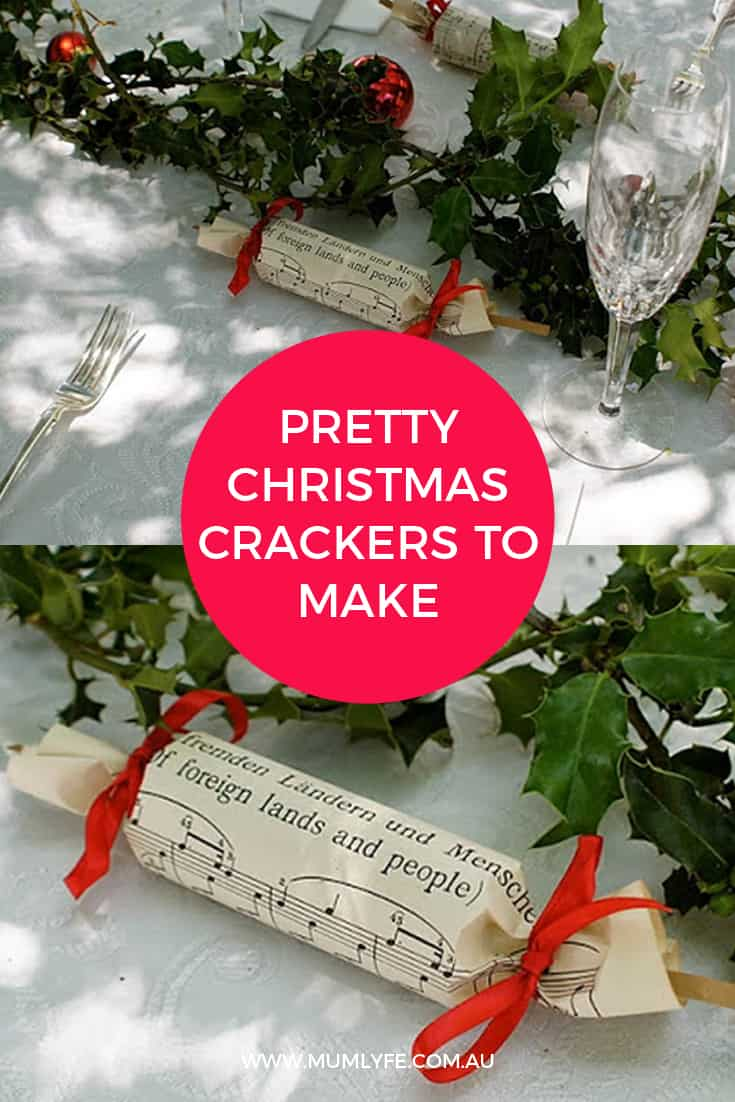 Pretty DIY Chrismas crackers to make