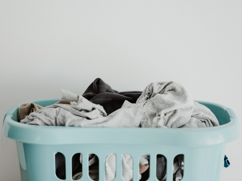 Household tips for washing - get a laundry basket for each person