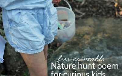 Photo nature hunt poem for curious kids