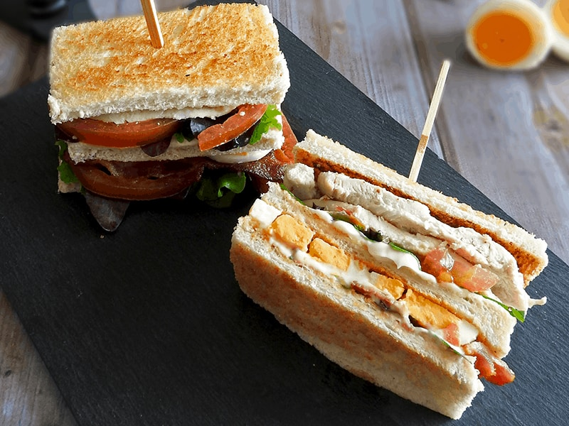 A club sandwich is great for school lunches