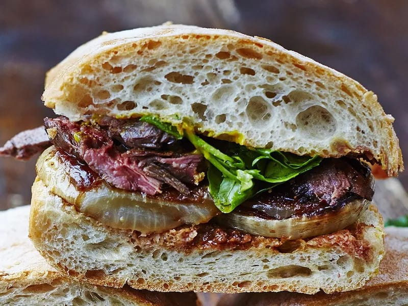 Steak sambos are a great lunchbox sandwich recipes