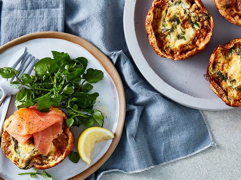 pie maker salmon quiches are great in the lunchbox