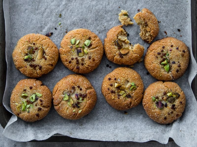 Almond and tahini cookies by Cook Republic