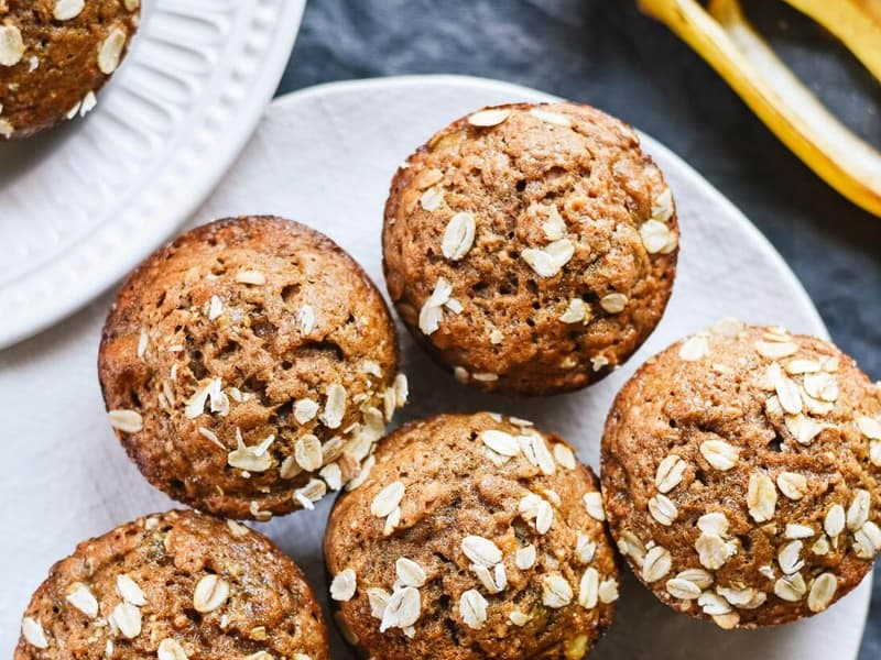 Cookie and Kate's maple-sweetened banana muffins