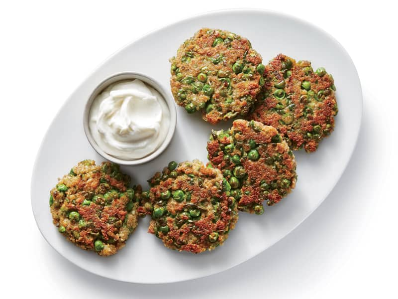 Cooking Light's Indian-spiced pea fritters are great for the lunchbox