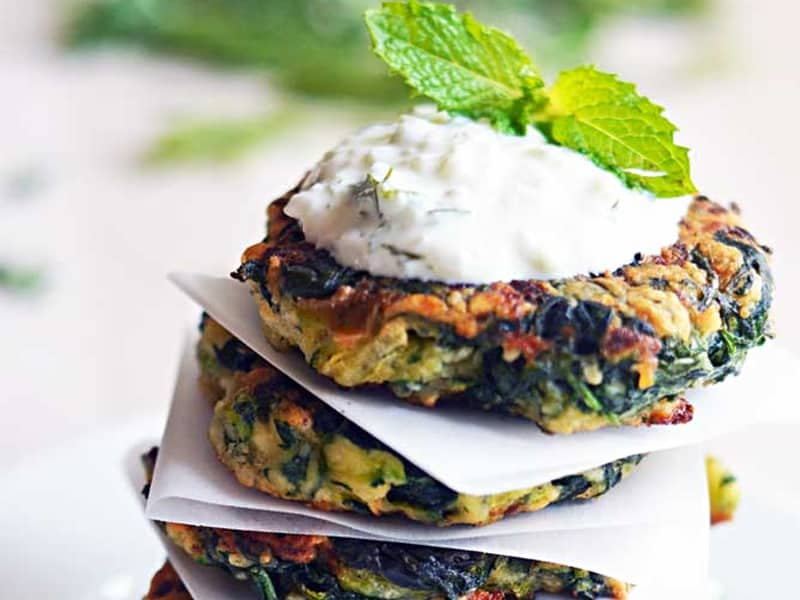 Host the Toast's zucchini, feta and spinach lunchbox fritters