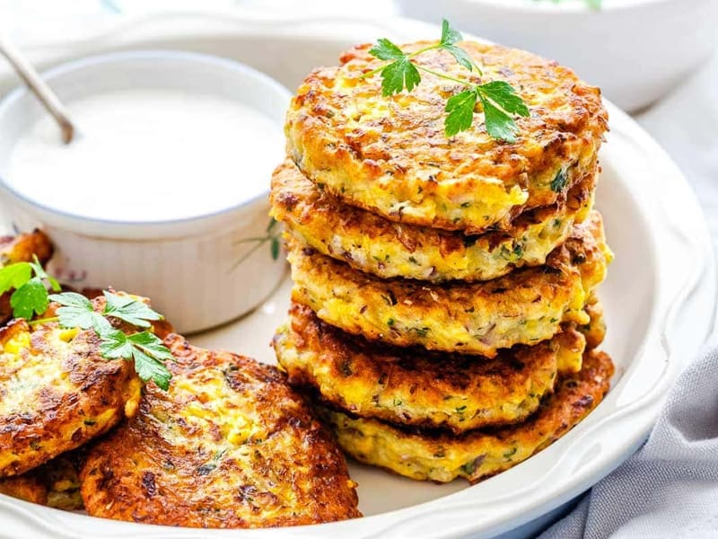 Little Sunny Kitchen's corn lunchbox fritters recipe