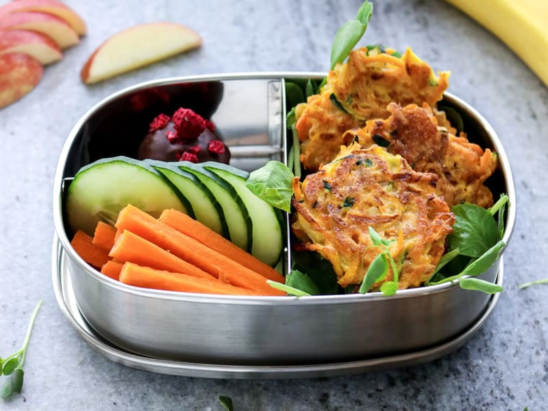My Lovely Little Lunchbox's veggie loaded lunchbox fritters