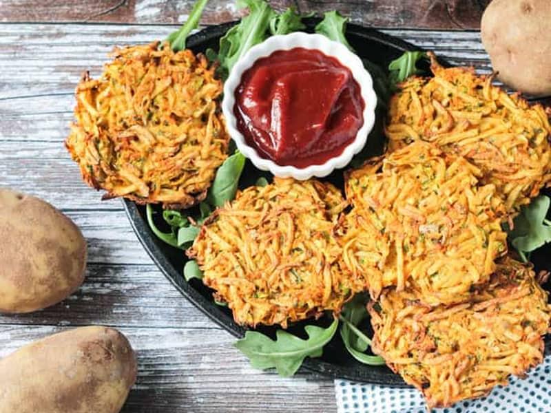 Potato fritters from Veggie Inspired