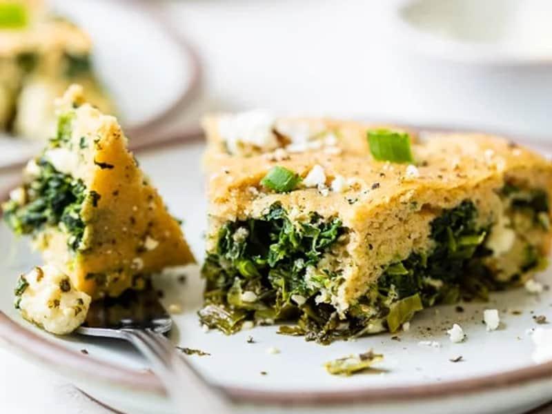 Skinnytaste's crustless spinach pie