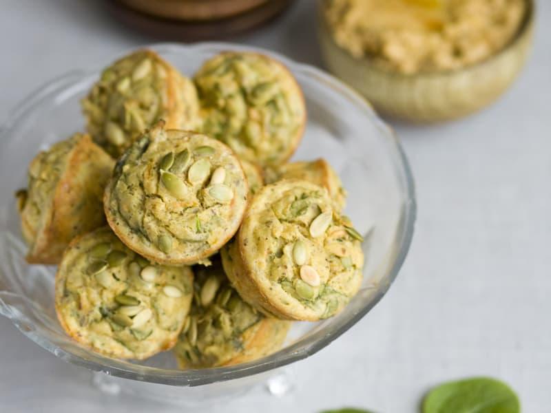 Spinach lunchbox muffins by Green Kitchen Stories