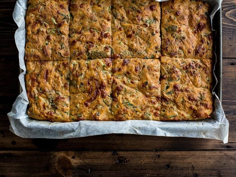 Sweet potato and zucchini slice by Cook Republic