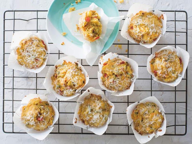 Vegie ricotta muffins from The Feel-Good Family Food Plan