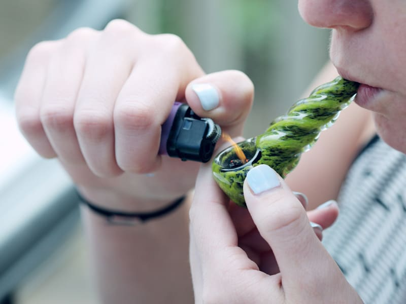 You probably won't know if your teen is smoking pot