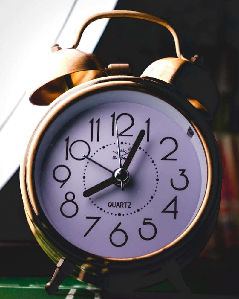 An alarm clock can help teens get enough sleep