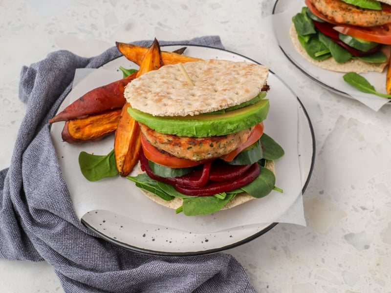 A quick and tasty low carb salmon burger recipe